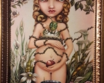 Virgin of Earthly Delights No.1 - 18 in. x36 in. Oil on canvas