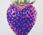 Purple Strawberry 3D