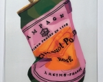 dominique steffens - crushed veuve clicquot rose -  23 by 17 inches